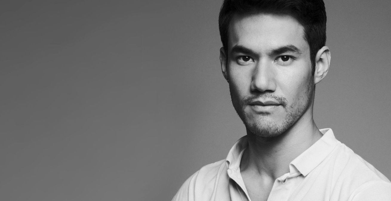 Black and white photo of Joseph Altuzarra