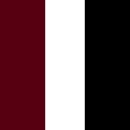 Bordeaux/White/Black
