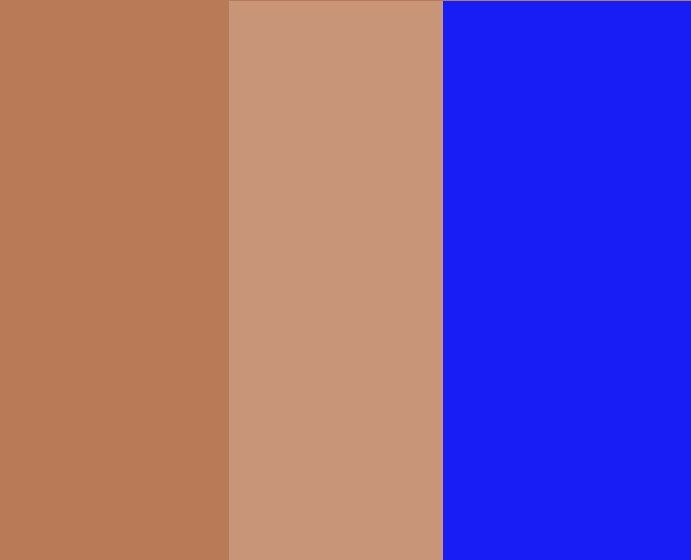 Khaki/Sepia/Blue