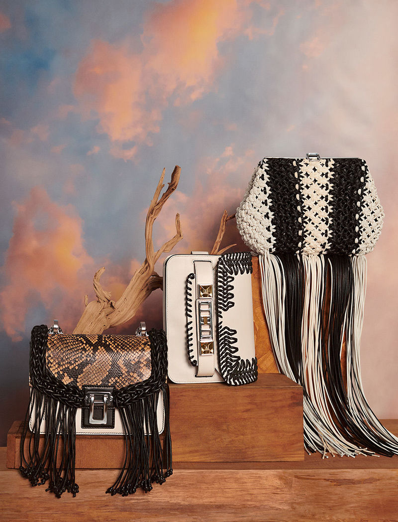 fall 2018 macrame and fringe bags by matt jackson