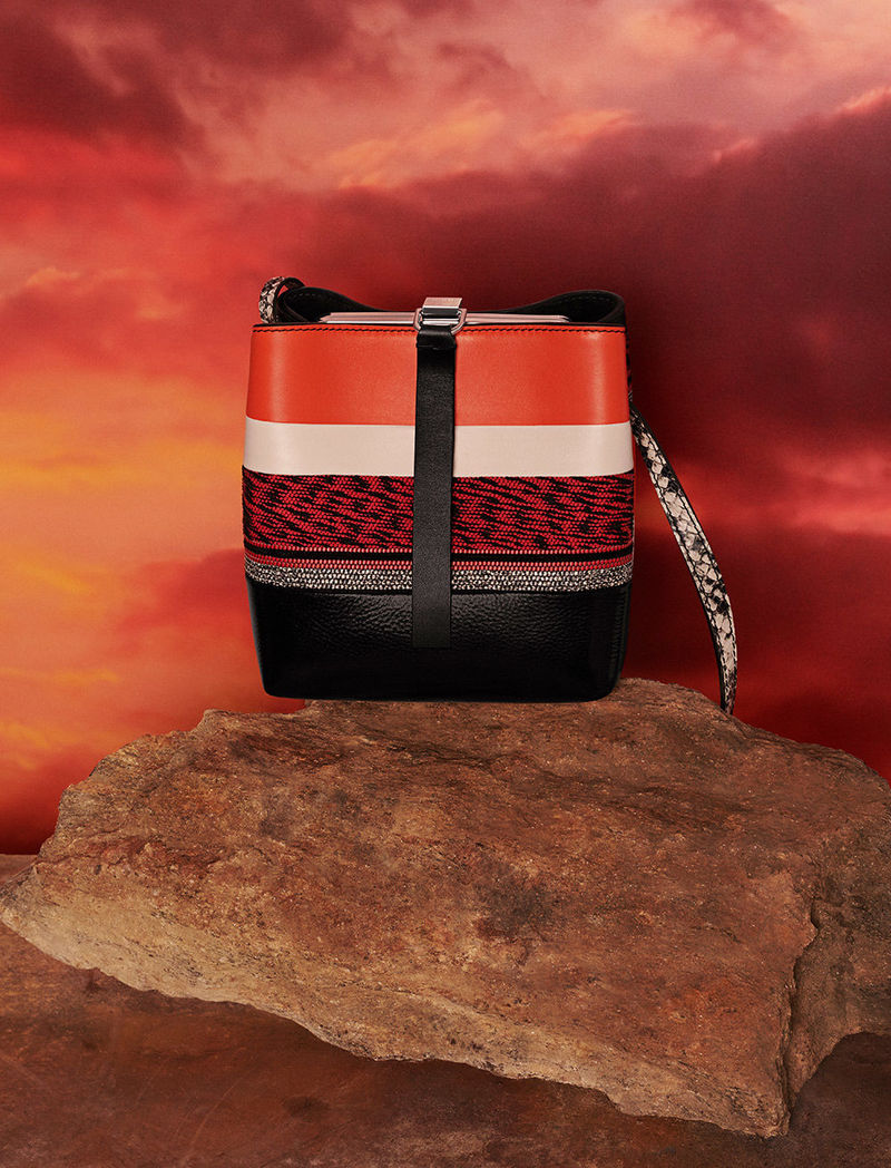 fall 2018 mini frame patchwork bag by matt jackson