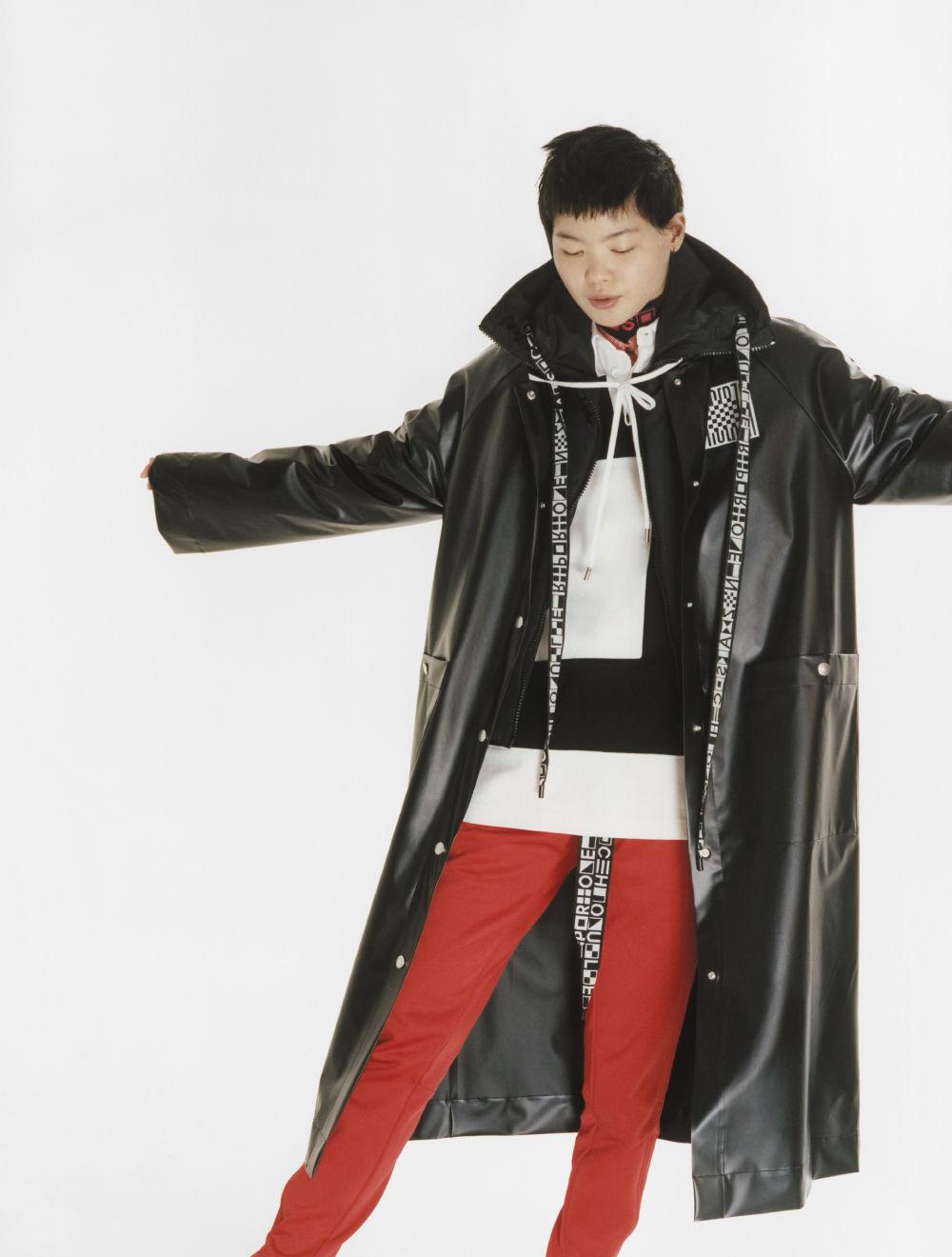 proenza schouler black raincoat
