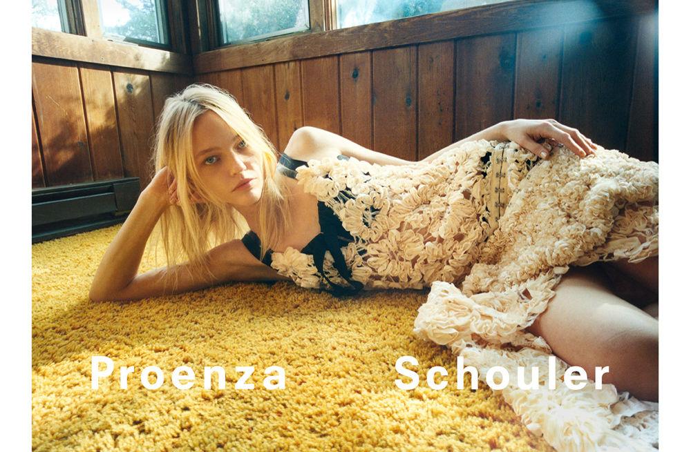 proenza schouler spring 2018 ad campaign sasha pivovarova