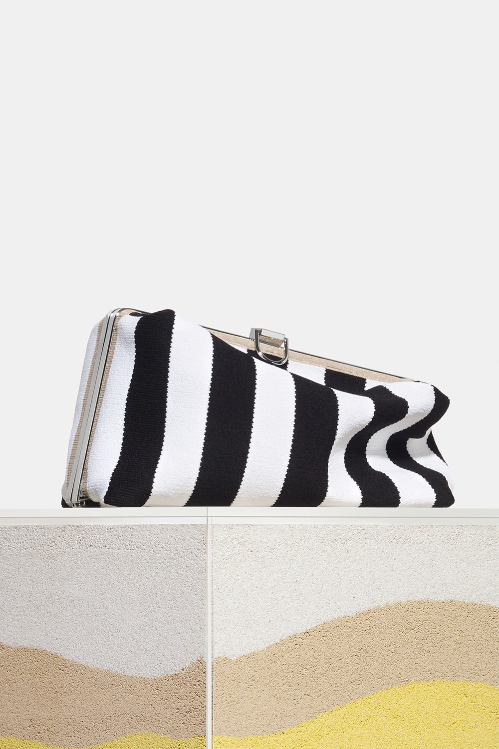 proenza schouler Spring 2018 black and white Frame Clutch