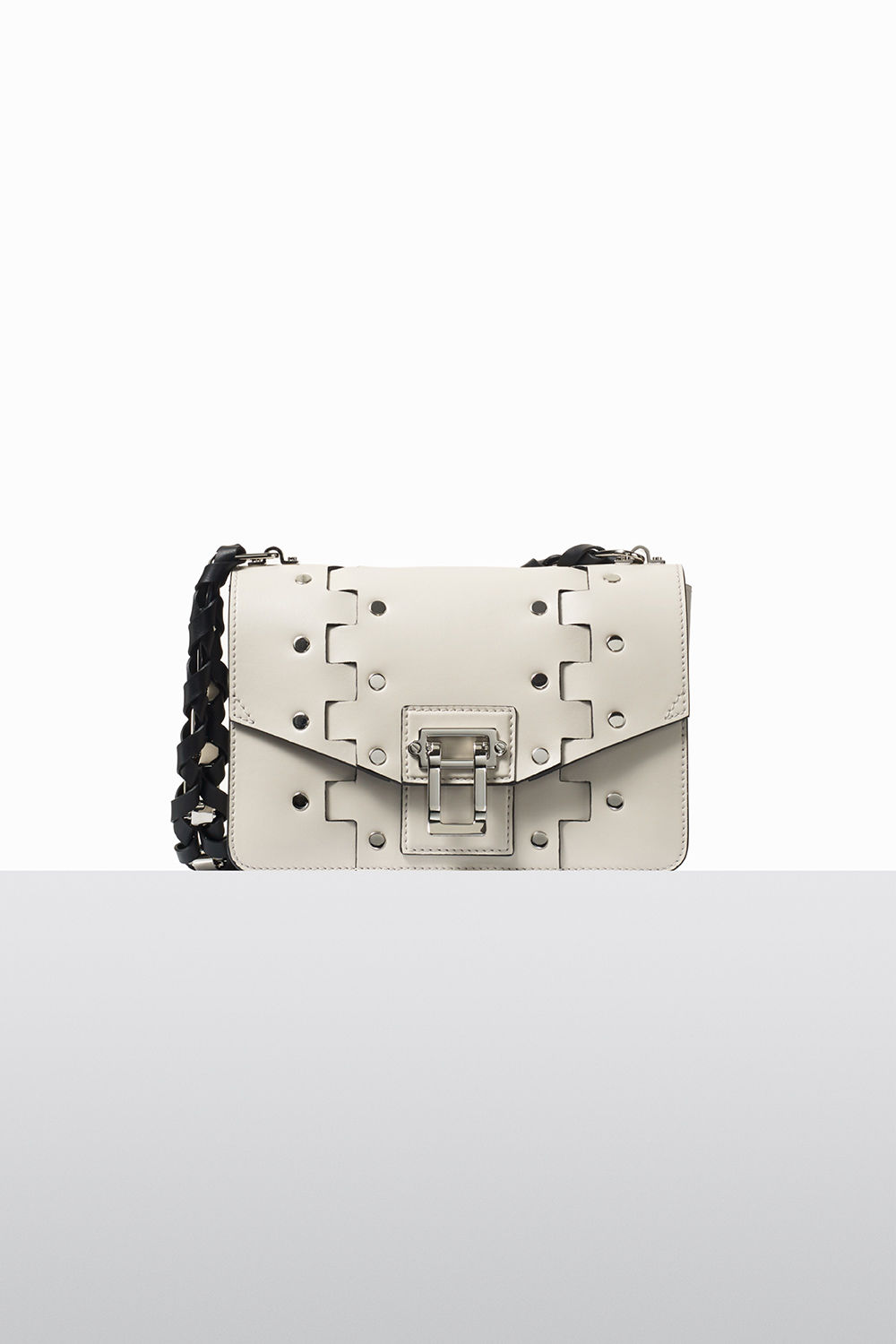 proenza schouler fall 2017 clay studded hinged hava chain bag