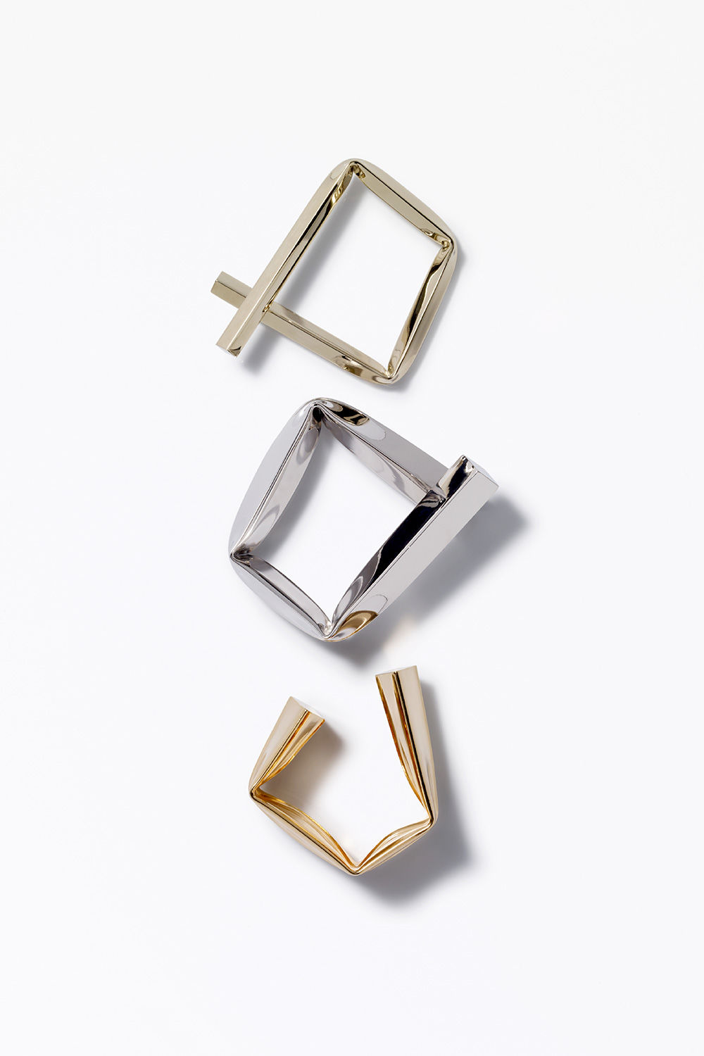 proenza schouler fall 2017 light gold small square bracelet