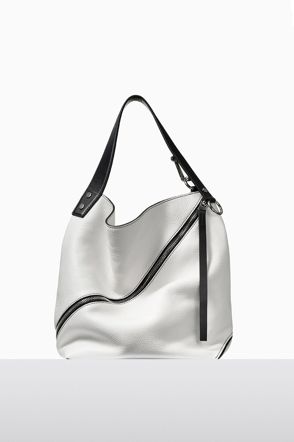 proenza schouler fall 2017 optic white textured grainy leather medium hobo