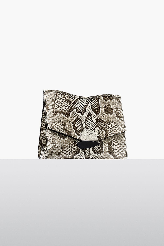 proenza schouler fall 2017 roccia python medium curl clutch