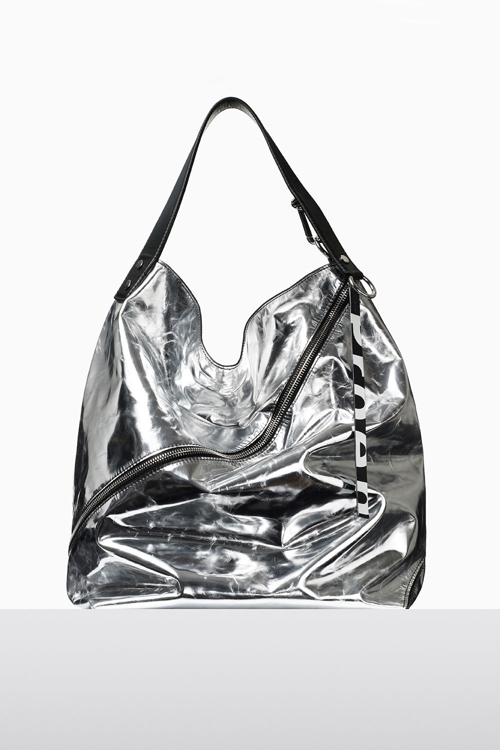 proenza schouler fall 2017 silver soft metallic leather medium hobo