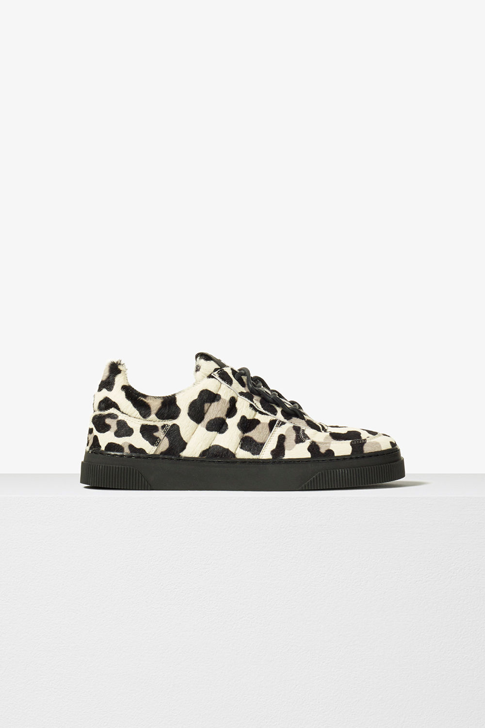 proenza schouler pre fall 2017 clay leopard calf hair leather lace up sneaker