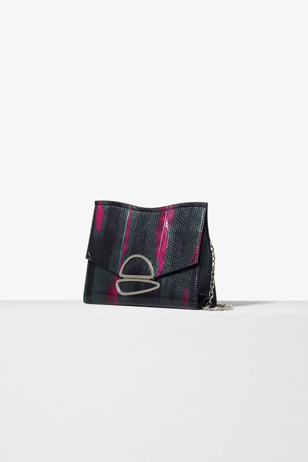 proenza schouler pre fall 2017 juniper printed exotic small chain curl clutch