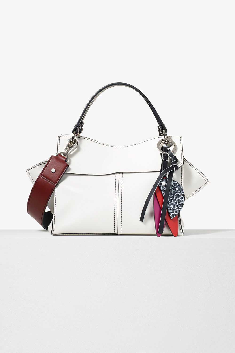 proenza schouler pre fall 2017 optic white soft smooth leather curl handbag