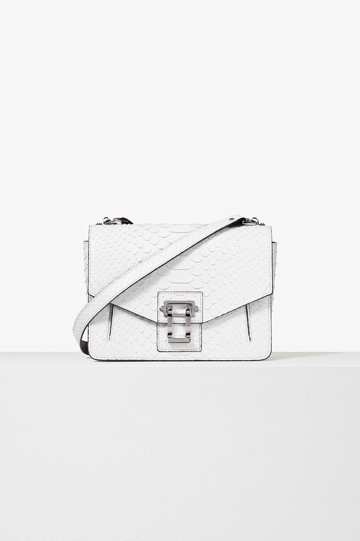 proenza schouler pre spring 2017 white soft matte python hava shoulder bag