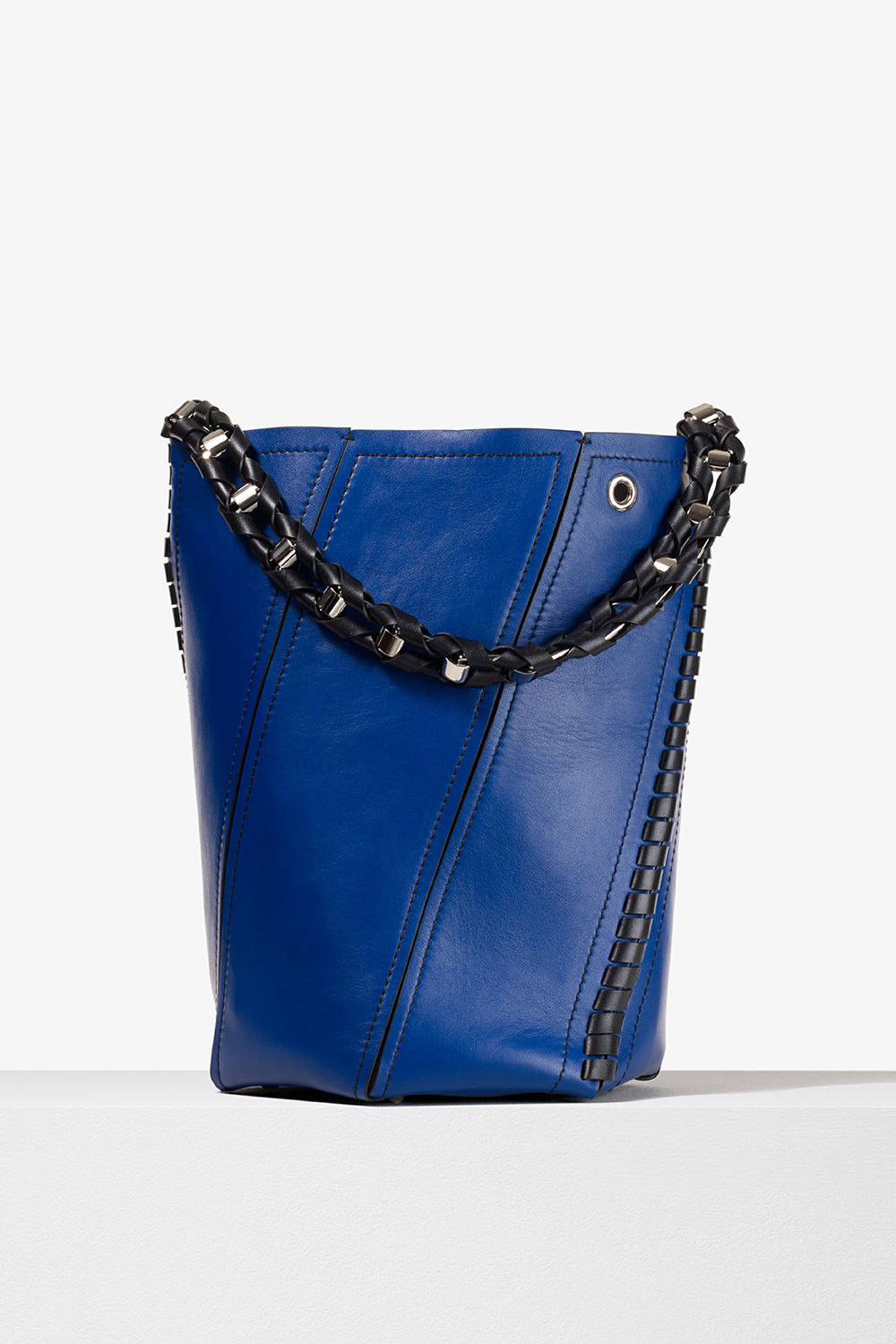 proenza schouler spring 2017 lapis smooth leather medium hex bucket bag