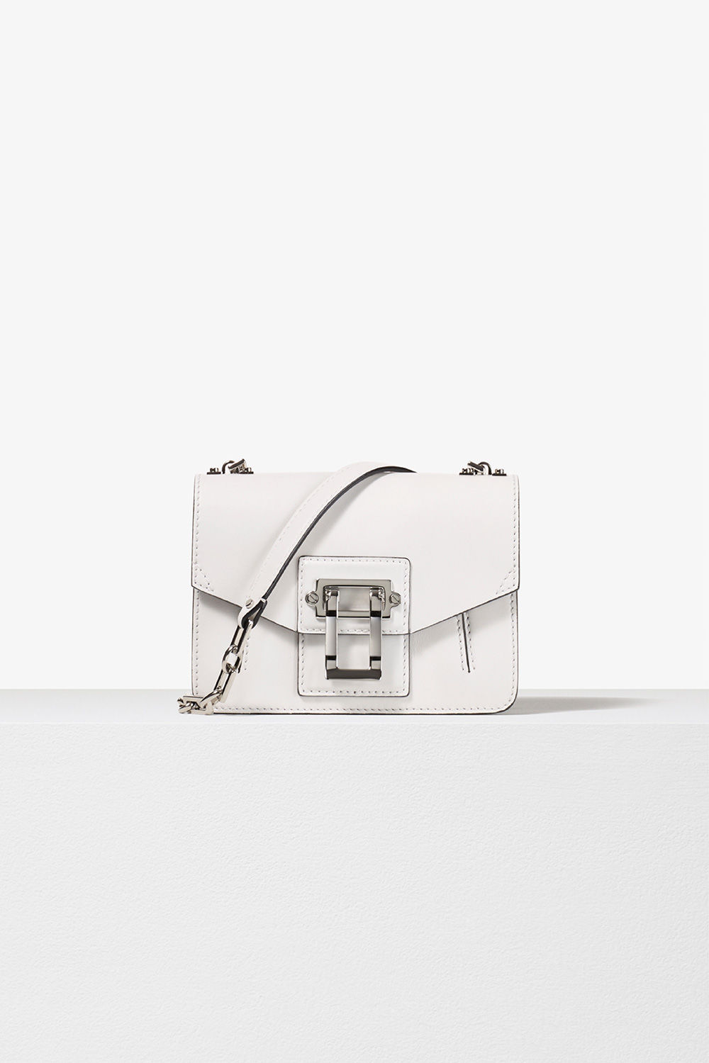 proenza schouler spring 2017 optic white smooth leather hava chain crossbody bag