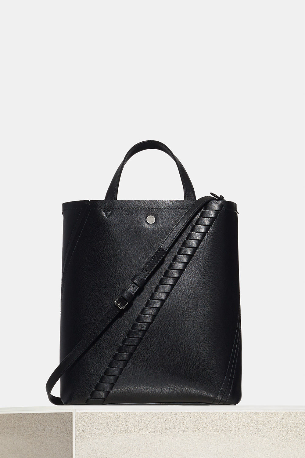 proenza schouler spring 2018 black mini grain leather hex tote bag